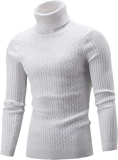 Jersey de Invierno para Hombre, Cuello Alto, Slim Fit Puro Contorto, Camisa Bottoming de Punto, Sudadera, Manga Larga, Camiseta Gruesa, para Hombre Esencial: Amazon.es: Ropa y accesorios