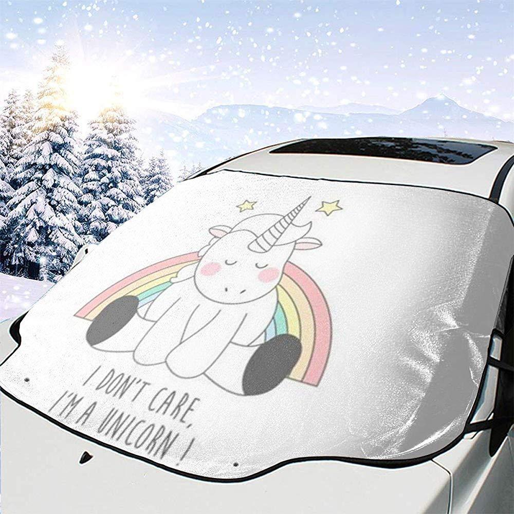 Ich Bin EIN Einhorn Auto Windschutzscheibe Sonnenschutz Abdeckung Vorne Wasser Sonnenlicht Schneedecke Hiram Cotton Car Sunshade Es Ist Mir Egal