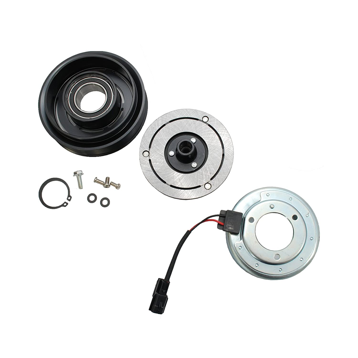 HexAutoparts A/C AC Compressor Clutch Repair Kit for Nissan Rouge 2.5L 2008-2013