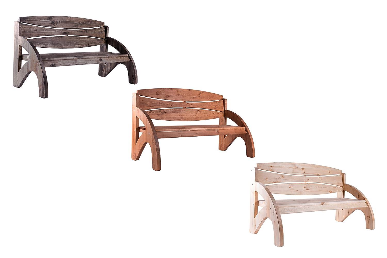 3 Sitzer Gartenbank Holz massiv JORN von Bomi | Holzbank mit Lehne ...