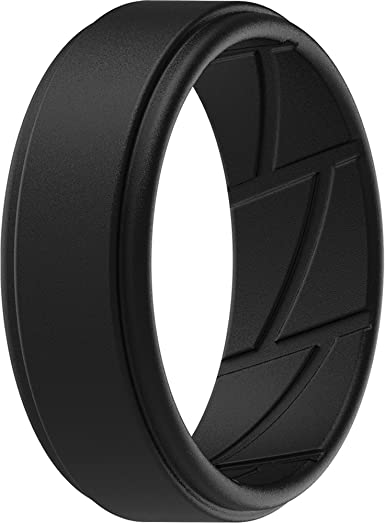 Nidayede Silicone Ring for Men Silicone Band FTM6