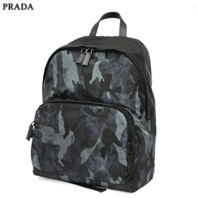 e6ab30fb772e Prada Tessuto St. Camo Backpack - Camouflage Black Nylon: Amazon.co.uk:  Shoes & Bags