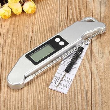 Termómetro digital de cocina de carne, temperatura plegable, uso de sonda de cocina,