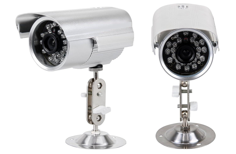 Cámara de vigilancia de seguridad impermeable Cámara de vigilancia exterior interior visión nocturna soporte Graba a microSD, TF de memoria micro sd de 16 ...