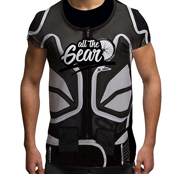 295d8b645 Bang Tidy Clothing Mountain Biking T Shirt All The Gear no Idea Mountain  Bike Gifts MTB Sublimation Tee: Amazon.co.uk: Clothing
