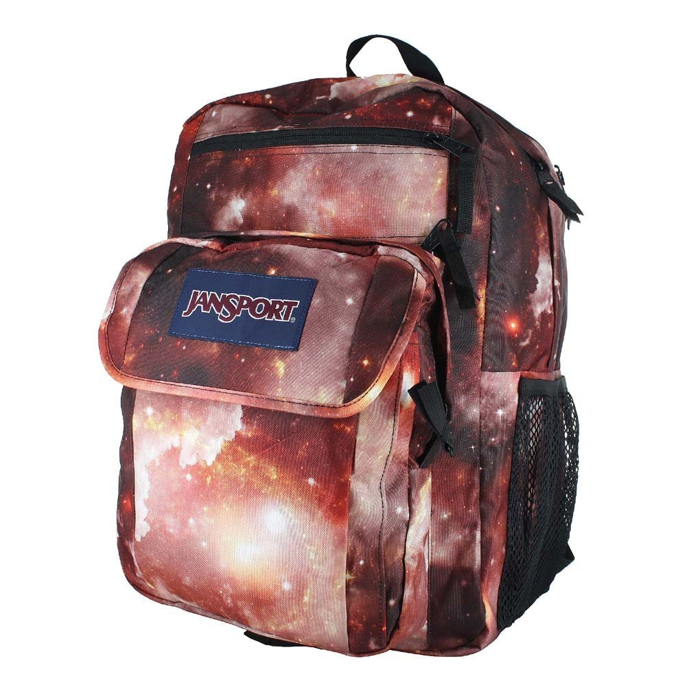 Amazon.com: JANSPORT DIGITAL STUDENT MULTI RED GALAXY BACKPACK ...