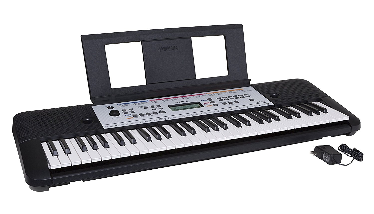 Yamaha YPT260 61-Key Portable Keyboard with Power Adapter  best digital piano for beginners