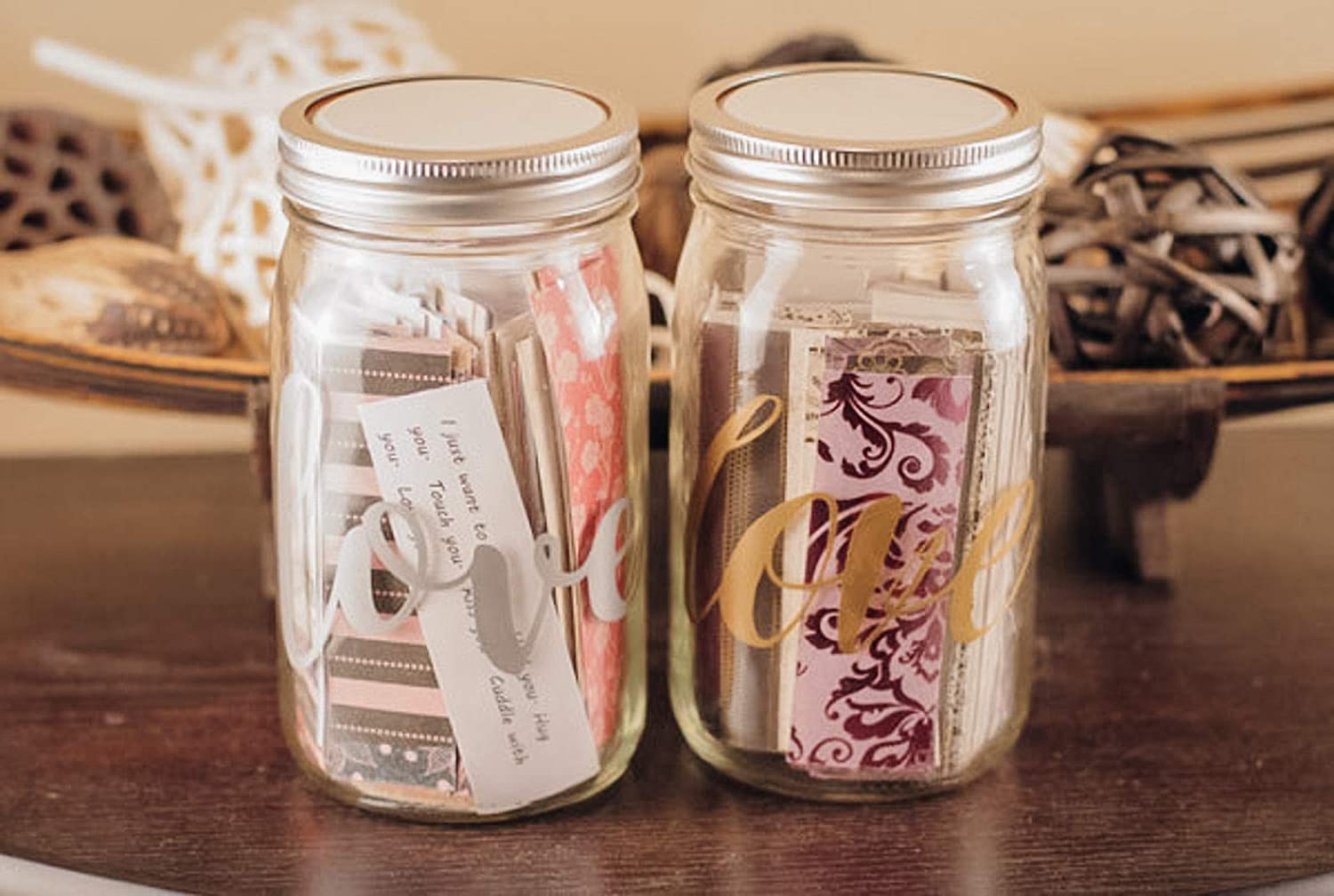 Amazon Com 365 Love Notes In A Jar Love Quotes Reasons Why I Love You Thoughtful And Personalize Gift Couple Keepsake Message In A Bottle Handmade