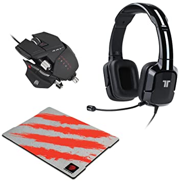 Equipo para jugador: Cascos con micrófono TRITTON Kunai, color negro, ratón con cable