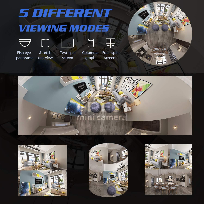 72f39758855f34 ... Videoüberwachung FREDI HD WLAN IP Kamera 360° Sicherheitskamera IP Cam  Fischaugenobjektiv Überwachungskamera WLAN Kamera Panorama Videoüberwachung  ...