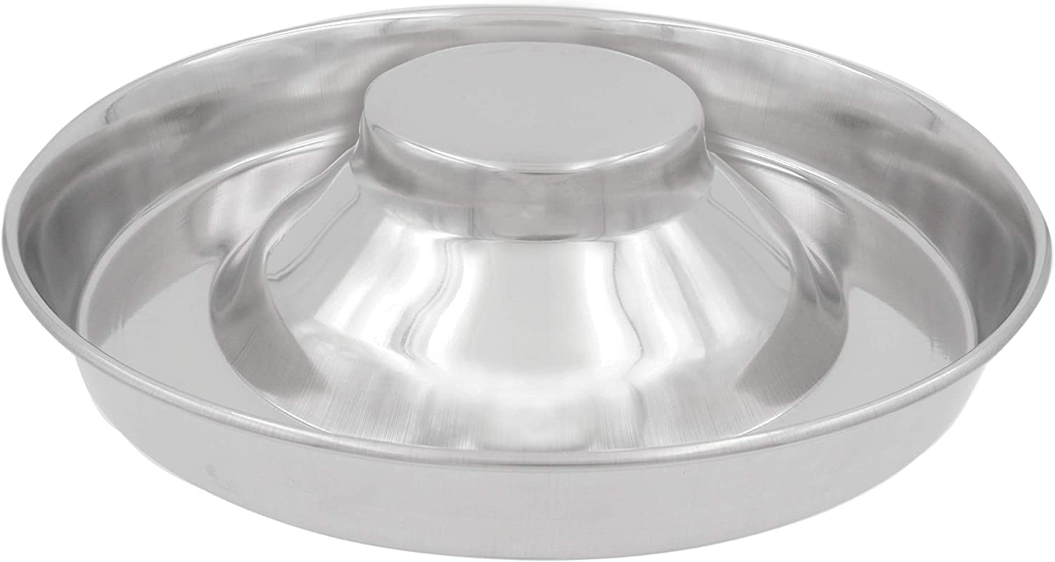 Fuzzy Puppy Pet Products Puppy Saucer Dog Bowl with Raised Center