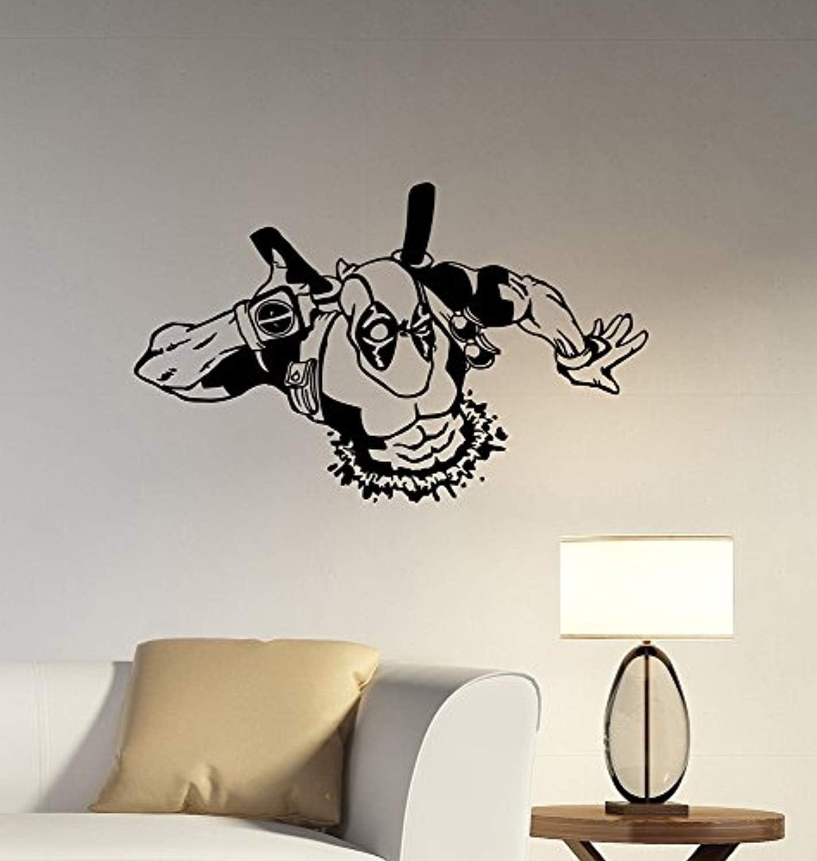 Deadpool Removable Vinyl Decal Wall Sticker Marvel Comics Superhero Decorations for Home Bedroom Teen Kids Boys Room Decor dpl3
