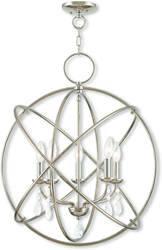 Livex Lighting 40905-35 Aria 5 Light Polished Nickel Chandelier