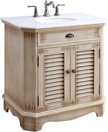 Chans Furniture 32 Cottage Look Fairfield Bathroom Sink Vanity Model CF-47524