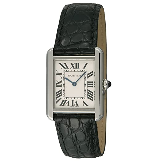 W5200005 reloj Cartier Tank Francaise de la mujer caja de acero inoxidable, correa de piel