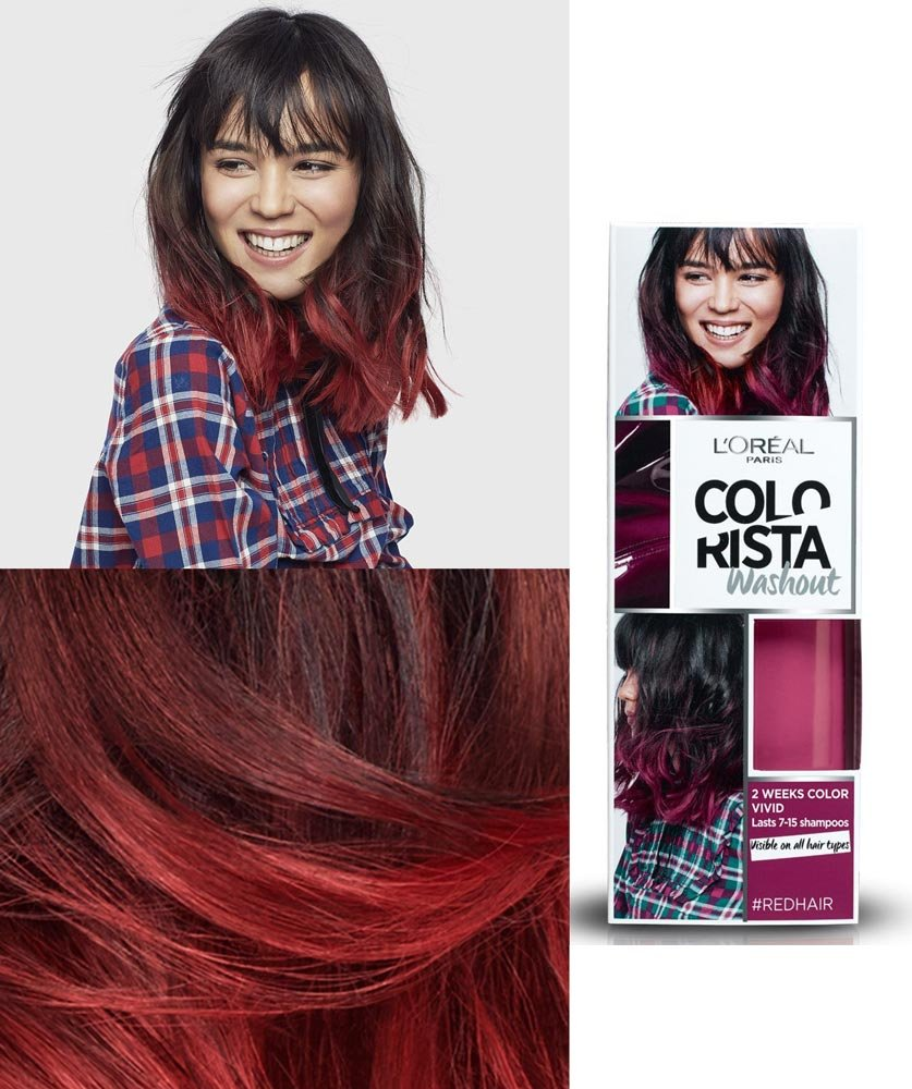 Amazon Loreal Hair Colorista Washout 11 Red Hair For 1 2