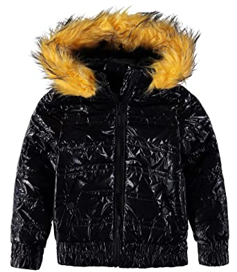 bfbce69b36eb Amazon.com  Urban Republic Little Girls  Metallic Puffer Jacket ...