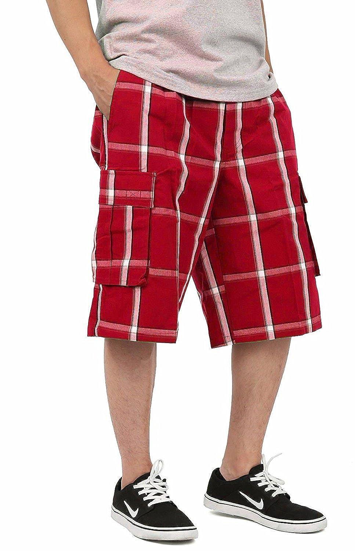 Shaka Wear - Plaid Cargo Shorts for Men, Sizes S-5XL I-SP17