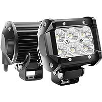 "Led Light Bar 2PCS 18w 4"" Flood Driving Fog Light Off Road Lights Boat Lights Driving lights Led Work Light SUV Jeep Lamp"
