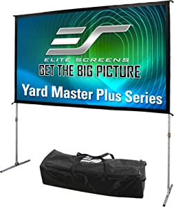 Elite Screens Yard Master Plus Series, 120-INCH, 16:9, 8K Ultra HD 3D Ready Indoor/Outdoor Portable Foldaway Home/Movie/Theater Projector Screen, Front Projection - OMS120H2PLUS, 2-YEAR WARRANTY