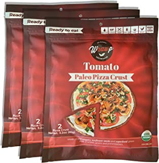 product image for Paleo Pizza Crust | 3 Pack Tomato Flavored Organic Gluten Free, Dairy Free, Soy Free, Nut Free and Vegan Pizza Crust
