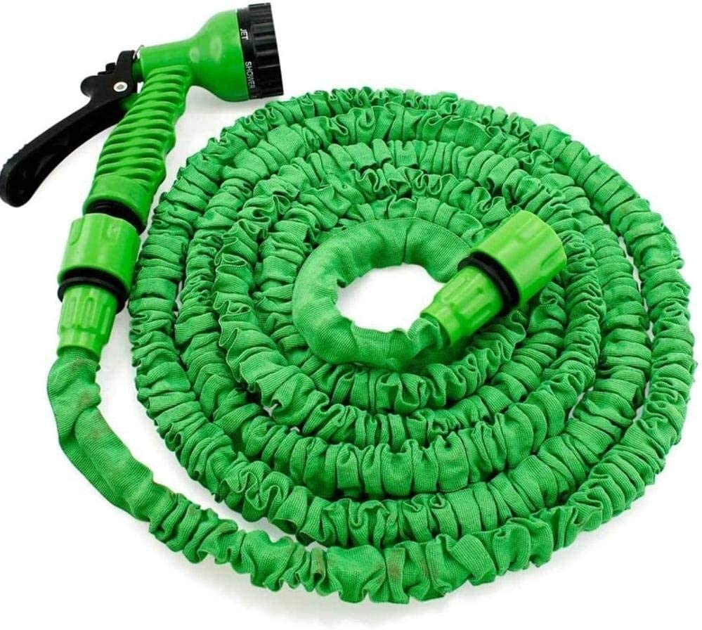 HLJ Hose Pipe Magic Lightweight Hose, Expandable Garden Hose with 7 function Spray Nozzle Anti-leakage Watering Tube for Car Washing Cleaning (Color : 100FT) 100ft