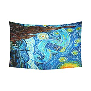 Unique Debora Custom Wall Tapestry Tardis 60x51 Inch Cotton Linen Tapestry Wall Hanging Art WD-1