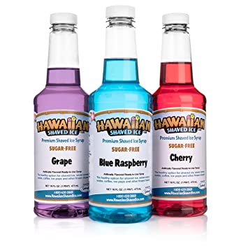 Are not Hawaiian shaved ice syrup can not