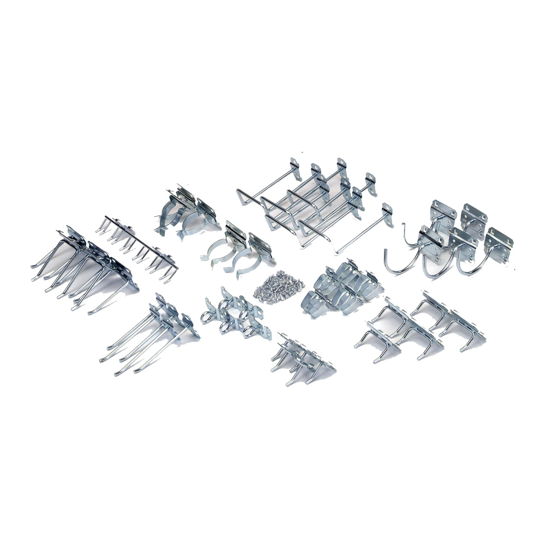 Triton Products LH1-KIT LocHook 46-Piece Zinc Plated Steel Hook Assortment for Locboard