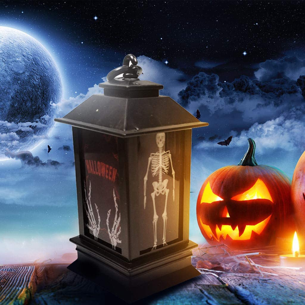Halloween Atmosphere Decorative Props Plastic Glowing Night Lighthouse Cute Ghost Holiday Lights for Outdoor Decor Halloween Christmas Party