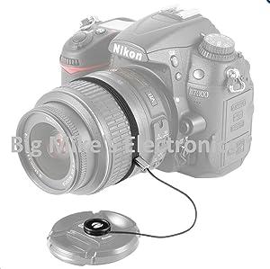 52mm Universal Snap-On Lens Cap for Nikon D3100, D3200, D3300, D5100, D5200, D5300, D5500 with NIKKOR 18-55mm f/3.5-5.6G VR II Lens (Tamaño: Lens Cap)