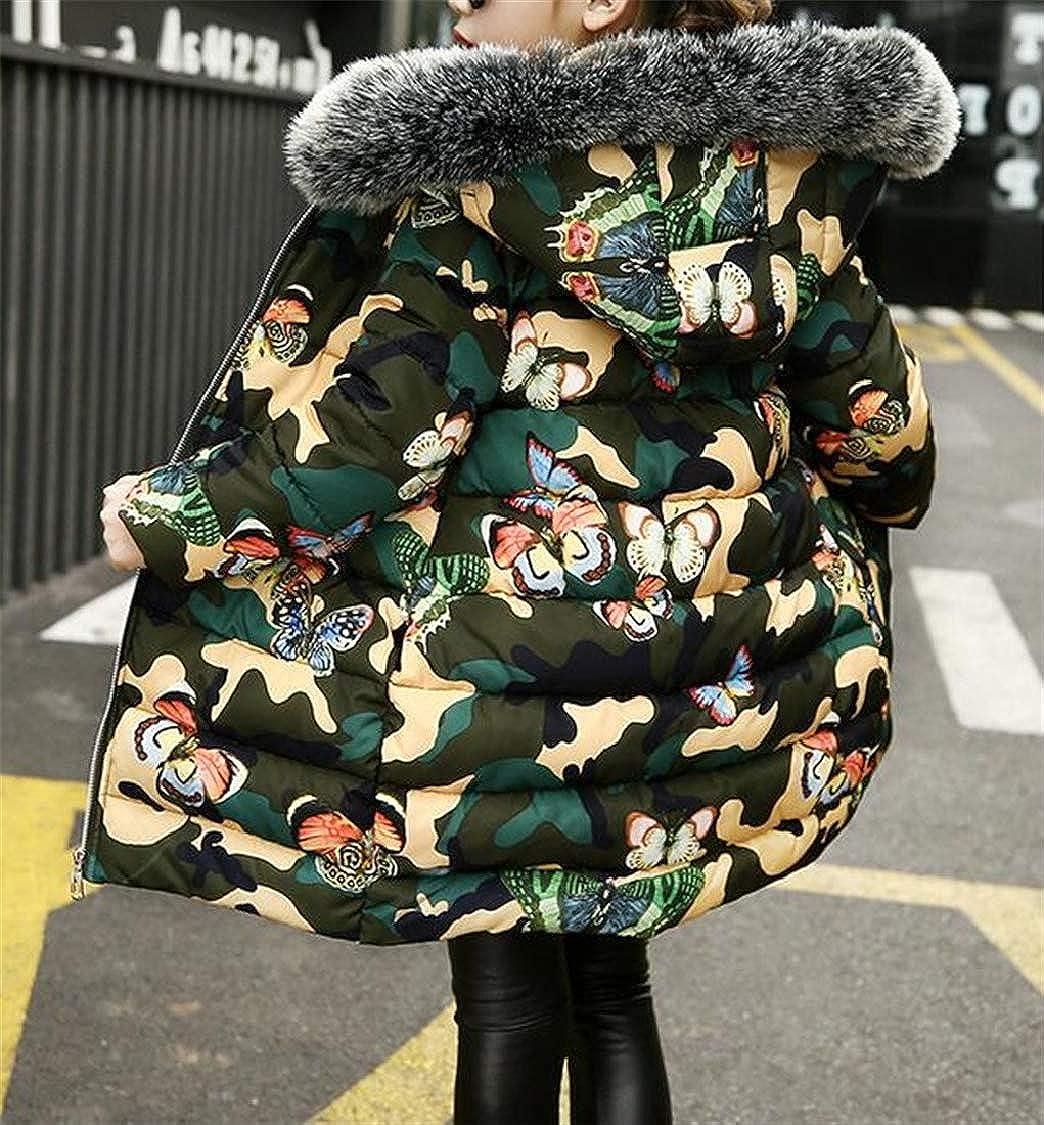 pipigo Girls Cute Casual Cotton-Padded Hoodie Coat Parkas Coats