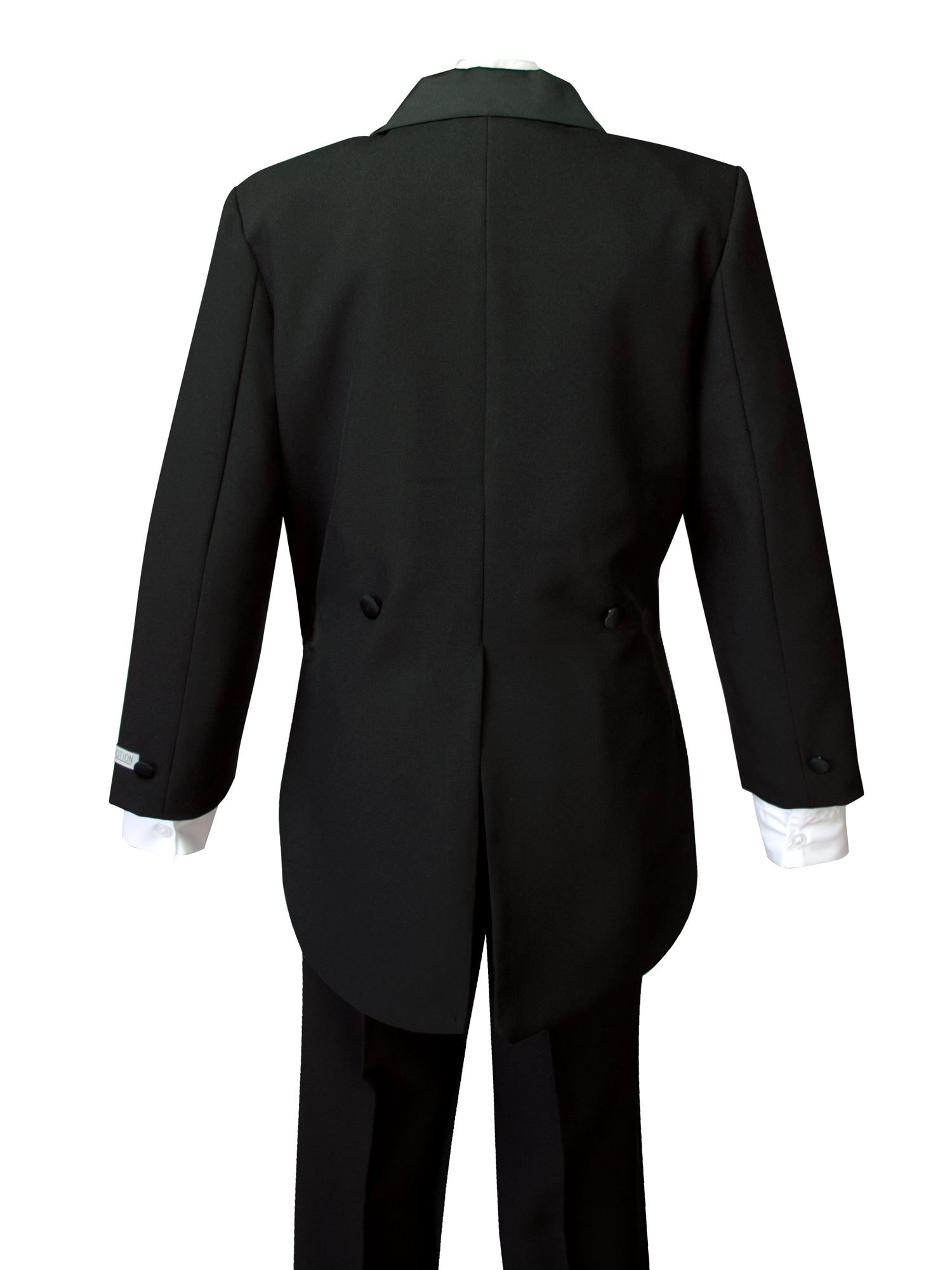 Spring Notion Boys' Black Classic Tuxedo with Tail Burgundy 4T by Spring Notion (Image #5)