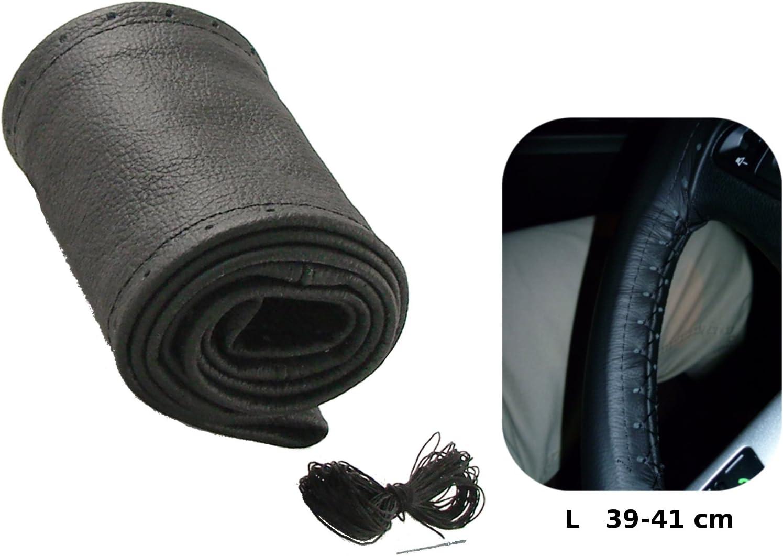 Volante/ /41/cm//10/cm /Coprivolante Coprivolante in vera pelle colore nero /Ø 39/
