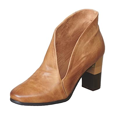 071aa32afebe Antelope Women s 651 Taupe Leather Hi Side Cut Striped Heel 36