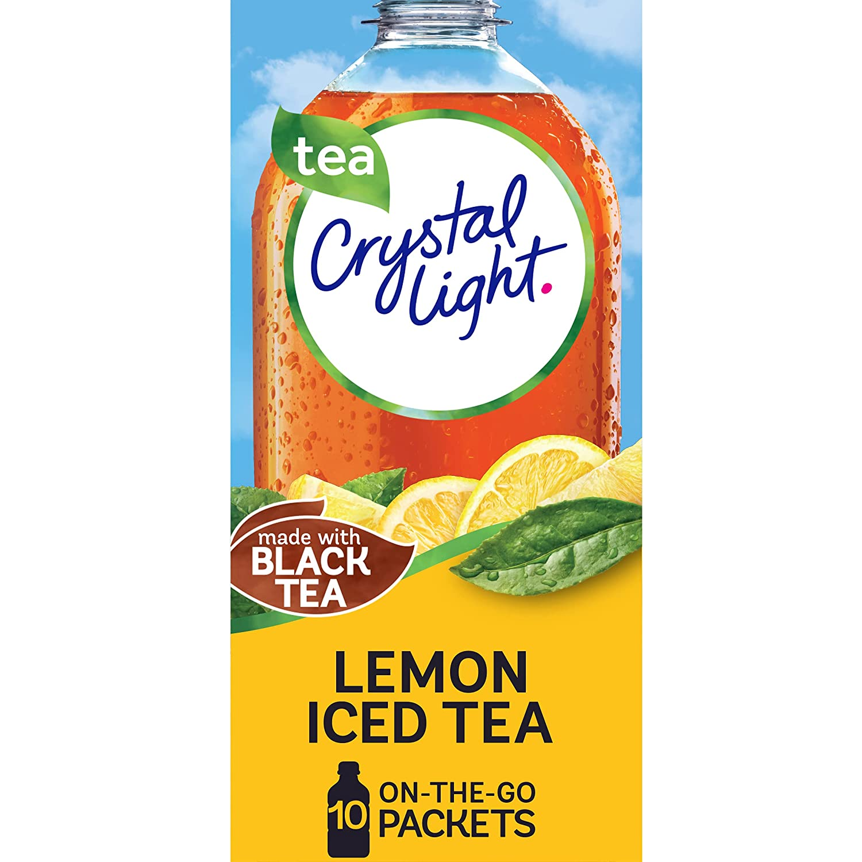 Crystal Light Lemon Iced Tea Drink Mix (120 On-the-Go Packets, 12 Packs of 10)