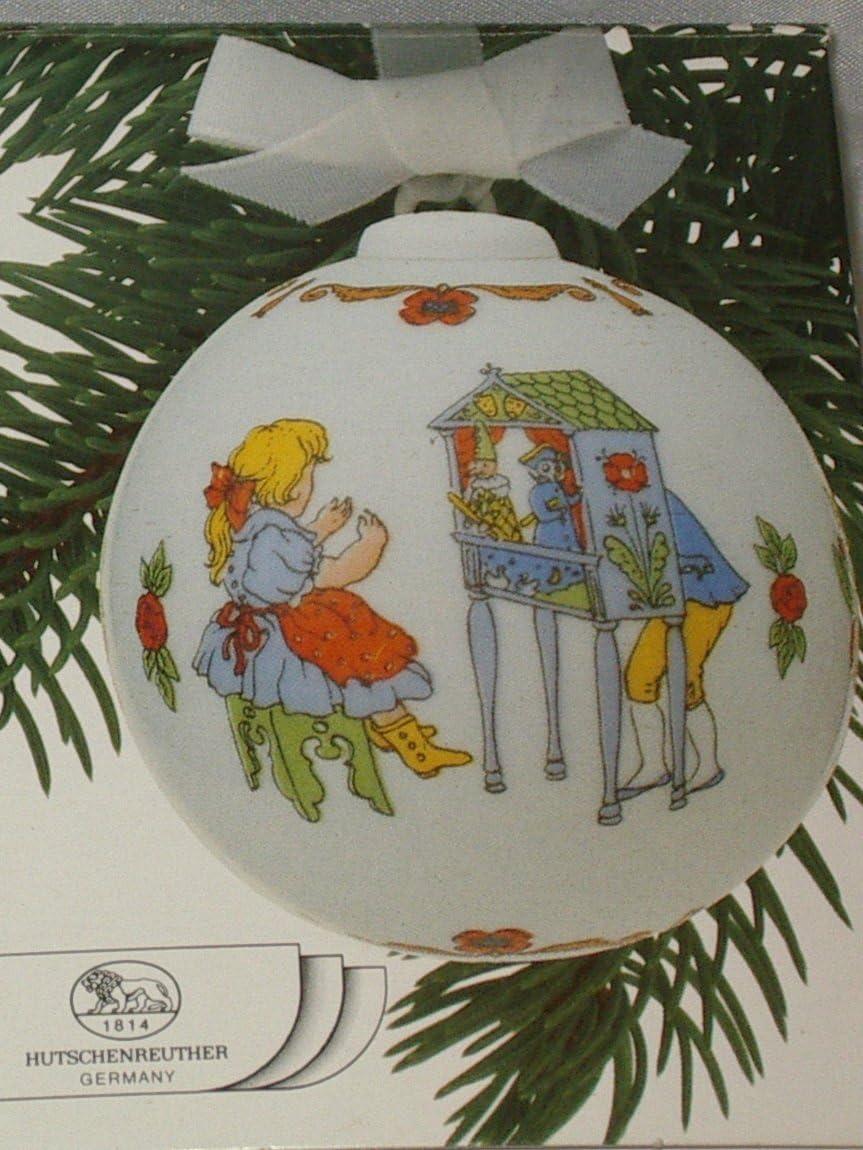 mit Originalverpackung Porzellankugel Kugel Design von Ole Winther Hutschenreuther Weihnachtskugel 1987 Puppenspiele Sfera porcellana Porcelain ball