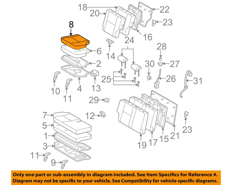 TOYOTA Genuine 71076-35640-B0 Seat Cushion Cover