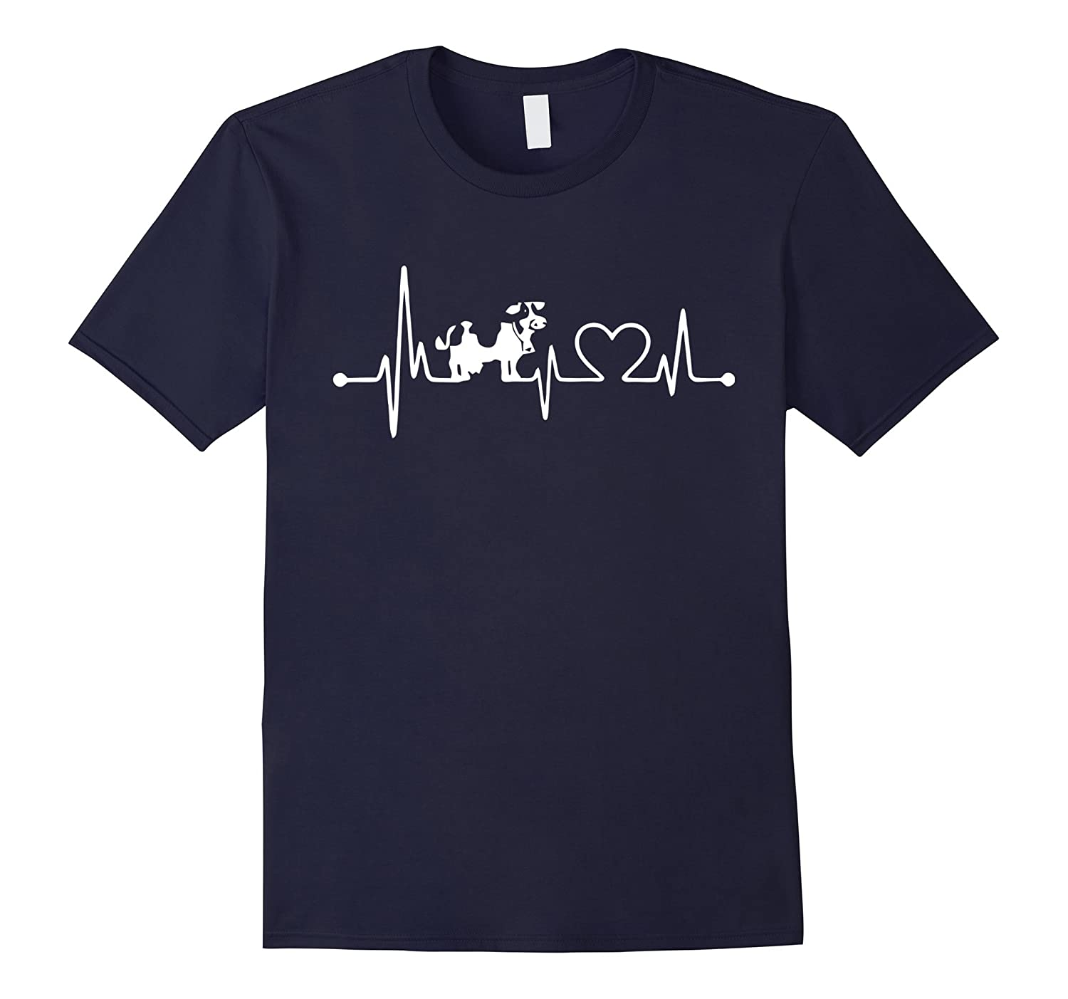 Dairy Cows Heartbeat T Shirt, Women's Dairy Cows T Shirt-CL