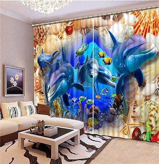 HAOTTP 3D Vorh/änge Verdunkelung Bettw/äsche Mode Anpassen Wolf Kopf Wohnzimmer Schlafzimmer Fenster Wohnkultur Hohe Qualit/ät H200xB200cm