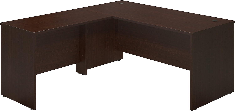Bush Business Furniture Series C Elite 66W x 30D Desk Shell with 42W Return in Mocha Cherry