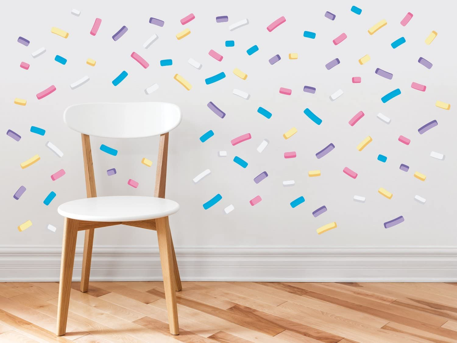 Sunny Decals 110 pc Mini Sprinkles or Confetti Removable Fabric Wall Decal