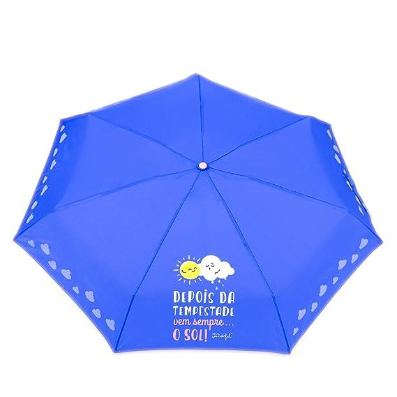 Mr.Wonderful Depois Da Tempestade, Vem Sempre. O Sol! Paraguas Pequeño, Color Azul Marino: Amazon.es: Equipaje