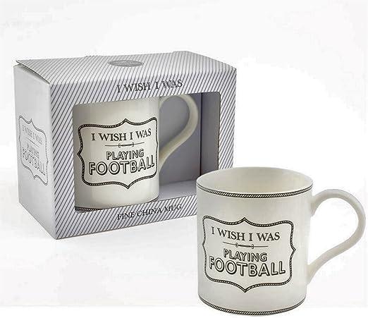 Taza de desayuno de porcelana fina, diseño con texto