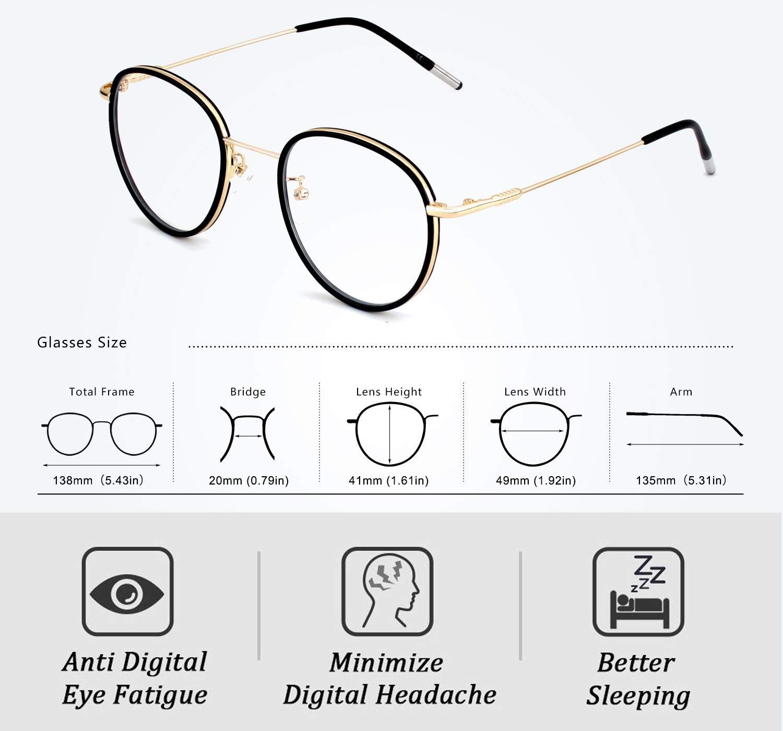 OCCI CHIARI Montatura occhiali colorati Montatura occhiali senza prescrizione con lenti trasparenti Regali per donna
