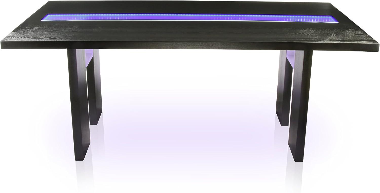 Furniture of America Brighton Rectangular Dining Table with LED Light, Espresso