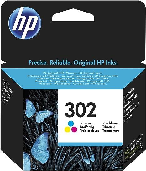 HP 302 Tri-color Original Ink Cartridge 4ml 165páginas Cian ...