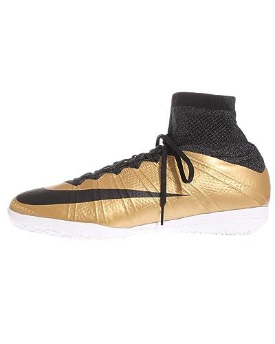ea0b6dc1c Nike MercurialX Proximo Indoor-MTLC Gold Grain Challenge RED Black (10.5)
