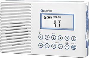 Sangean H202 Portable AM/FM/Weather Alert/ Bluetooth Digital Tuning Waterproof Shower Radio
