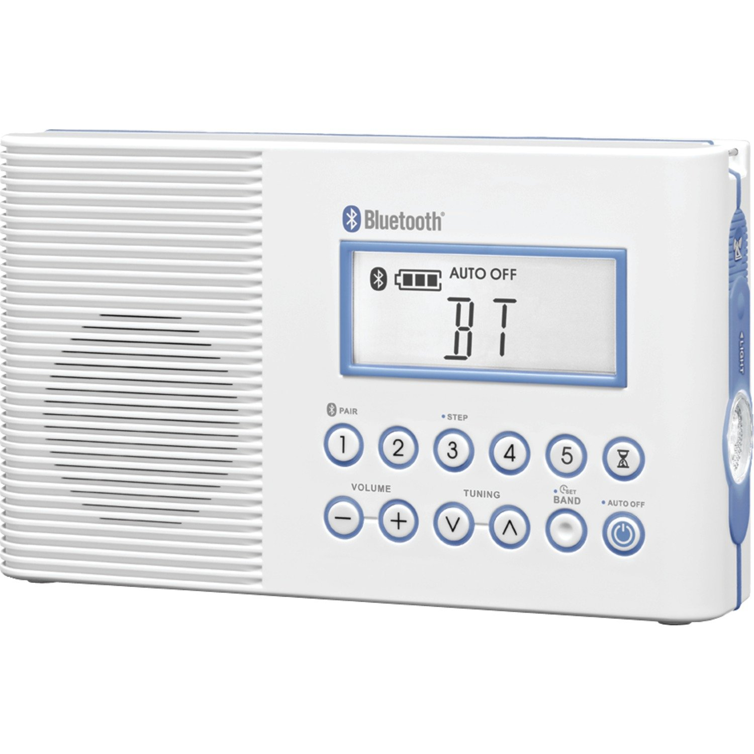Sangean America, Inc. H-202 Shower Radio with Bluetooth (White)